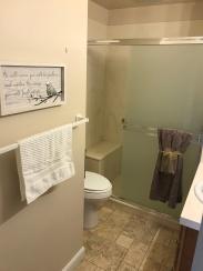Bath with walk-in shower